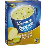 Varma Koppen Potatis & Purjolök Pulver Blå Band 3p/6dl