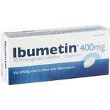Ibumetin 400mg Ibuprofen Vid Värk & Feber Ibumetin 30p