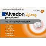 Alvedon 250mg Vid Smärta & Feber Munsönderfallande Alvedon 12p