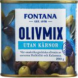 Olivmix Kalamon & Gröna Kärnfria Fontana 290/130g