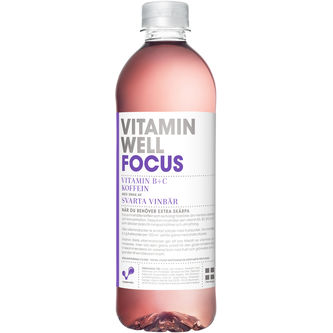 Focus Svarta Vinbär Stilla Vatten Pet 50cl Vitamin Well
