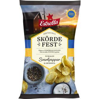 Skördefest Svartpeppar/gräddfil Chips Ltd 250g Estrella