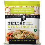 Kycklingfilé Grillad Tärnad 12mm Fryst Happy Chef 450g