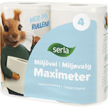 Maximeter Miljöval Toalettpapper Serla 4st