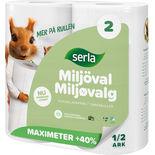 Hushållspapper Maximeter Miljöval Serla 2st