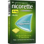 Nicorette 4mg Nikotintuggummi Nicorette 30p