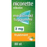 Fruktmint 2mg Nikotintuggummi Nicorette 30p
