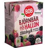 Lättdryck Björnbär & Hallon Bob 2dl/1l