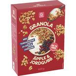 Granola Äpple & Jordgubb Garant 425g