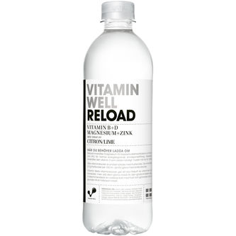 Reload Citron/lime Stilla Vatten Pet 50cl Vitamin Well