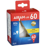 Led Normal 60w E27 Airam 2p