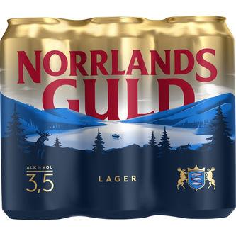 Norrlands Guld 3.5% Folköl 6p/50cl Norrlands Guld