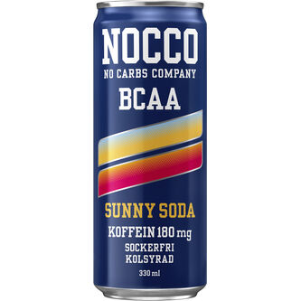 Sunny Soda Bcaa Energidryck Burk 33cl Nocco
