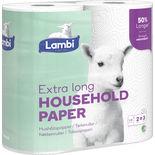 Extra Long Strong&absorbent Hushållspapper Lambi 2st